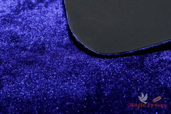 Коврик для карт и микромагии синего цвета