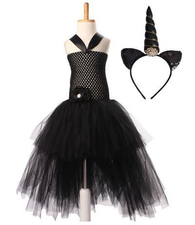 Единорог платье пачка черное