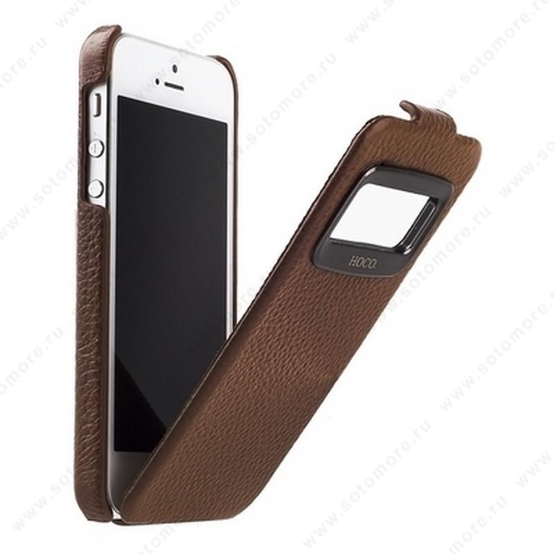 Чехол-флип HOCO для iPhone SE/ 5s/ 5C/ 5 - HOCO Leather Case Marquess Brown
