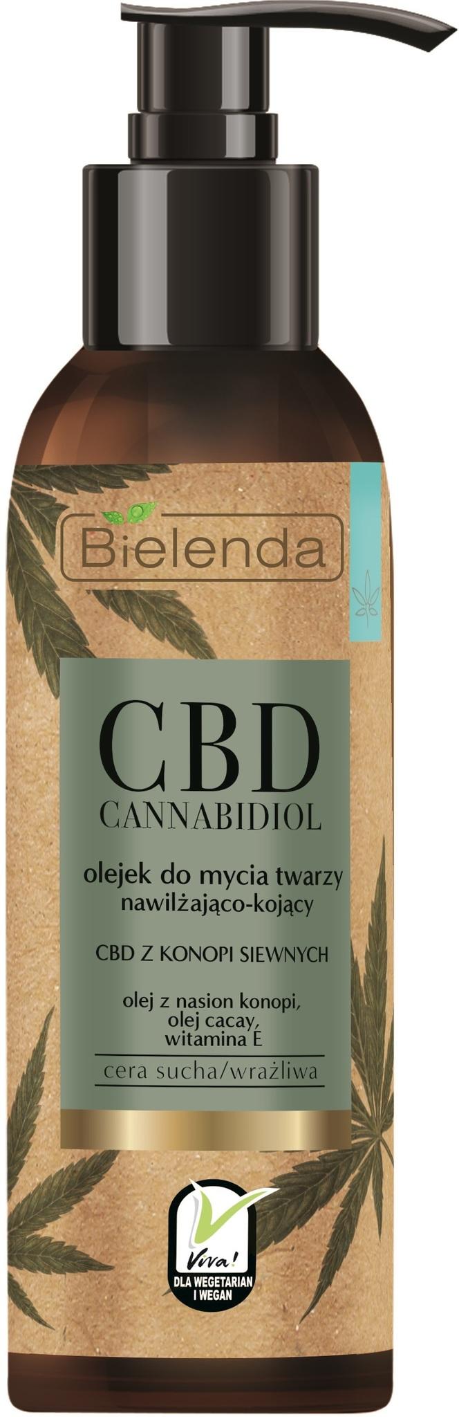 CBD Cannabidiol Гель для очищения лица из конопли для сухой и чувствительной кожи 140ml