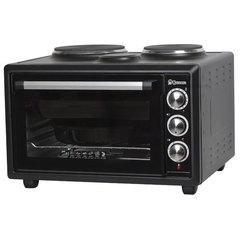 Мини печь | Духовка электрическая 39л ВАСИЛИСА ВС-2К39 двухконфорочная черная