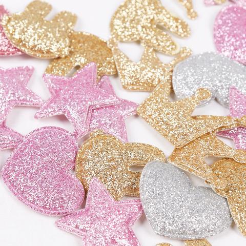 Аплікація Нашивка Патч для рукоділля: сердечко, зірочки, корона, кролик.