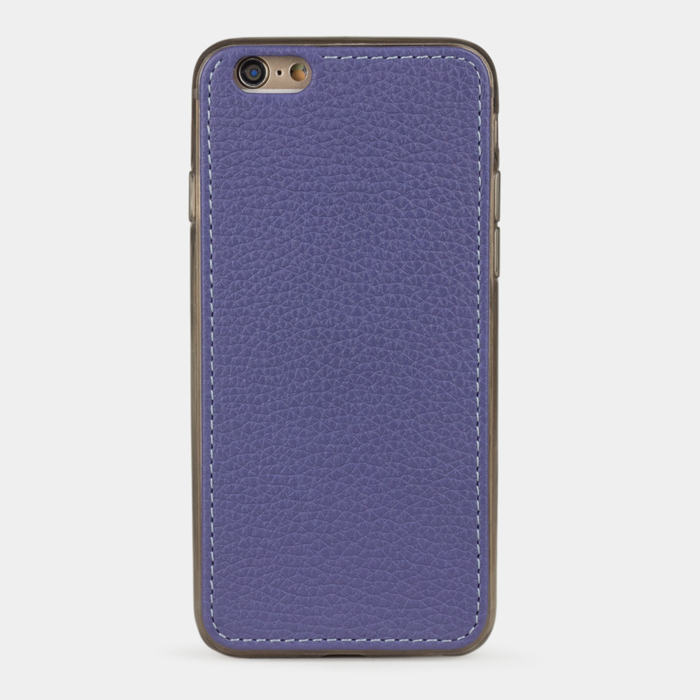 Чехол-накладка для iPhone 6/6S из натуральной кожи теленка, цвета сирени