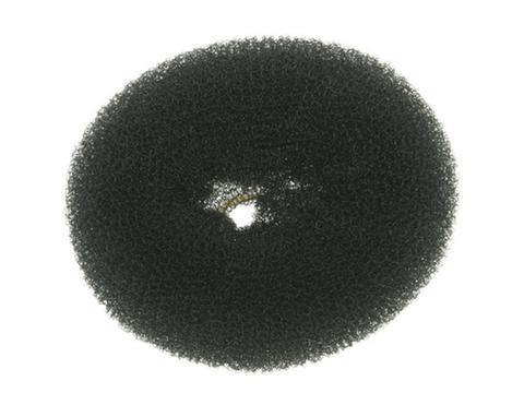 Валик круглый черный, для волос сетка, d 10 см