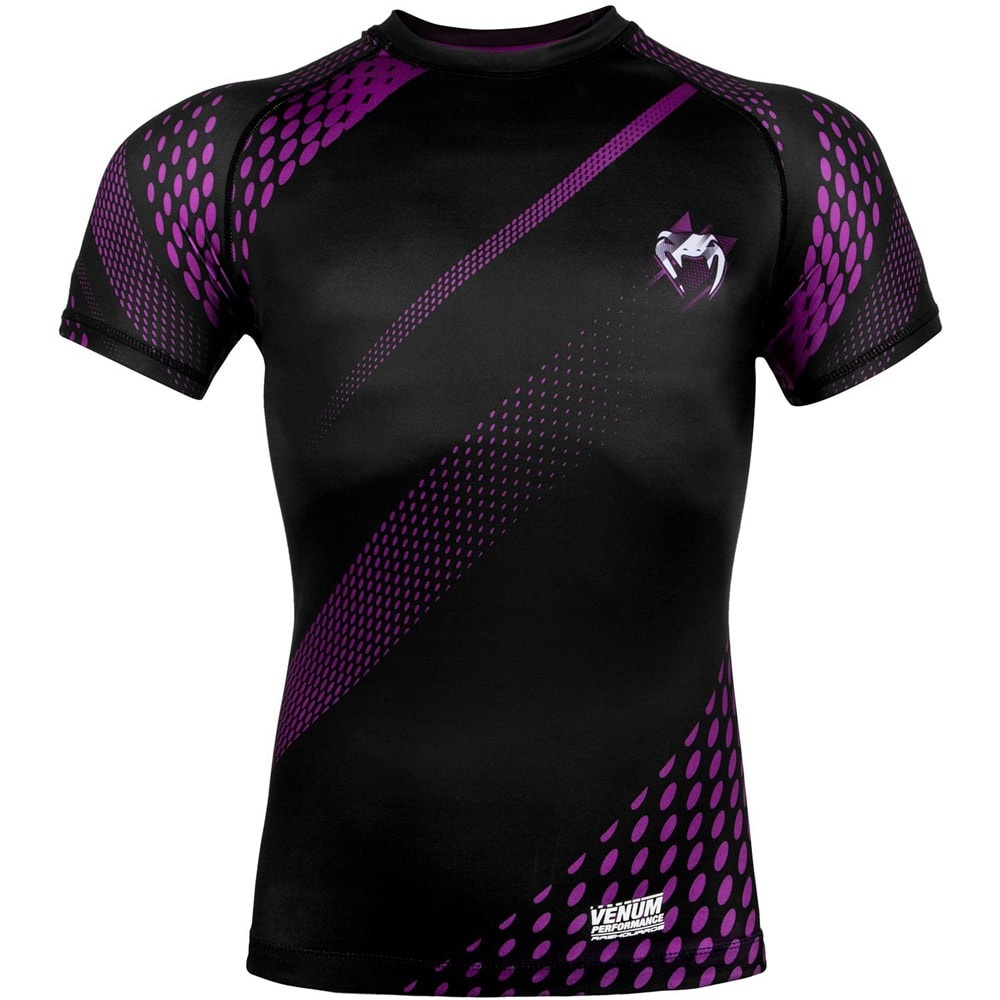 Термобелье/Рашгарды Рашгард Venum Rapid Rashguard ShortSleeves Black/Purple 1.jpg