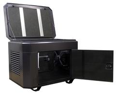 Домик для генератора SB1200DM с открытыми дверцами ral 8019
