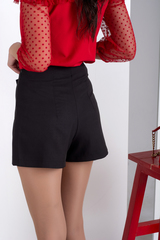 Шорты-юбка. Молодежные оригинальные шорты. Черный