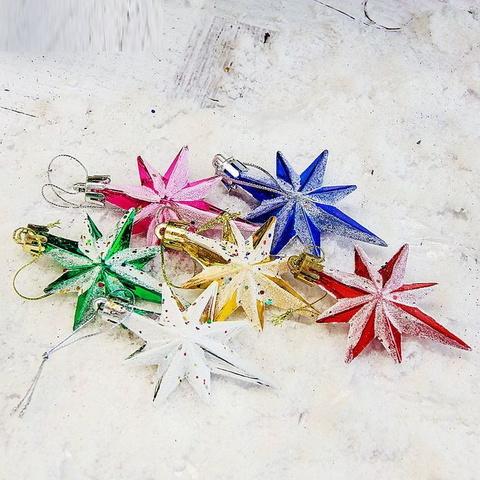 6 звезд игрушки на ёлку