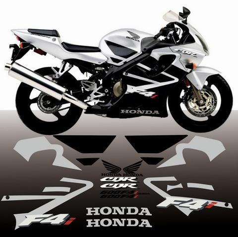 Набор виниловых наклеек на мотоцикл HONDA CBR 600 F4i 2002