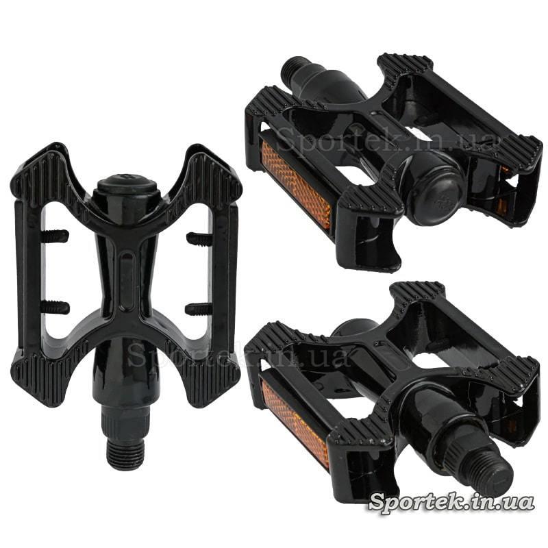 Чорні алюмінієві прогулянкові педалі