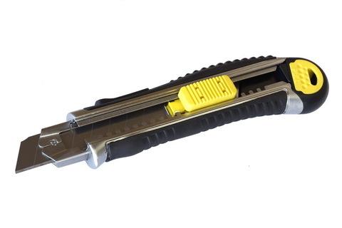 Нож Энкор, со сменным лезвием, металлический корпус, 18 мм, 9671