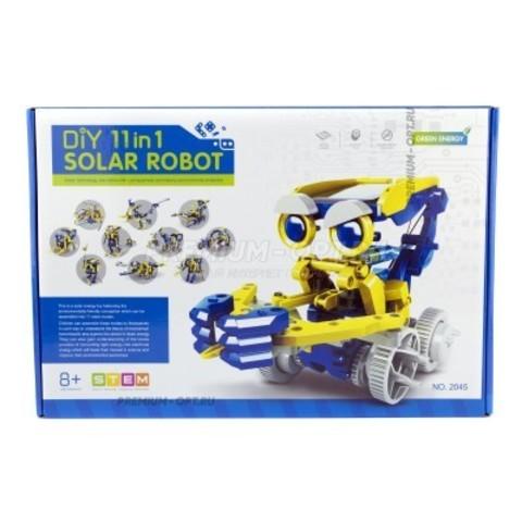 КОНСТРУКТОР НА СОЛНЕЧНЫХ БАТАРЕЯХ DIY SOLAR ROBOT 11 В 1