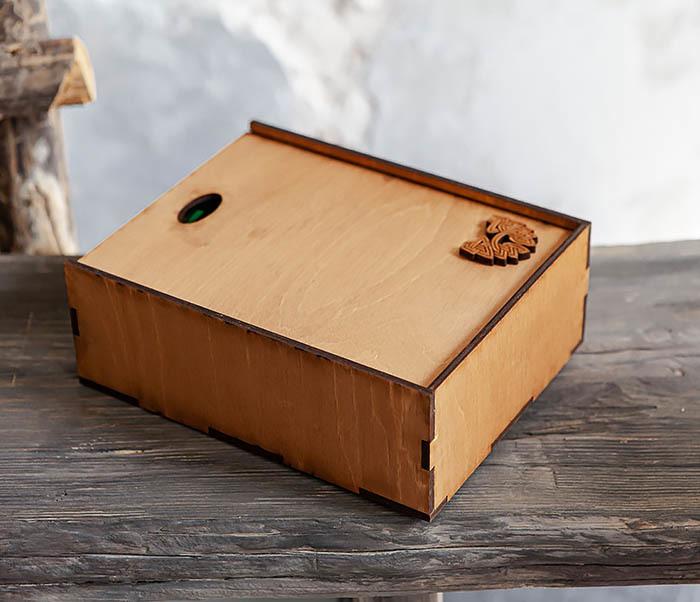 BOX231-2 Подарочная коробка формата А6 из дерева (19*15*6 см) фото 05