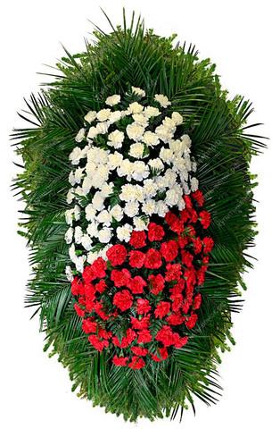 Траурный венок из живых цветов ВЖ 18 -180 см