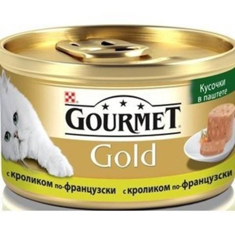 Gourmet Gold консервы для кошек террин с кроликом 85г