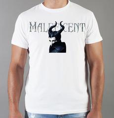 Футболка с принтом Малефисента, Анджелина Джоли (Maleficent ) белая 005