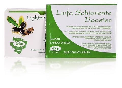 """Порошковый усилитель осветления волос """"Linfa Schiarente Booster Lightener powder""""  (12×25 гр)"""