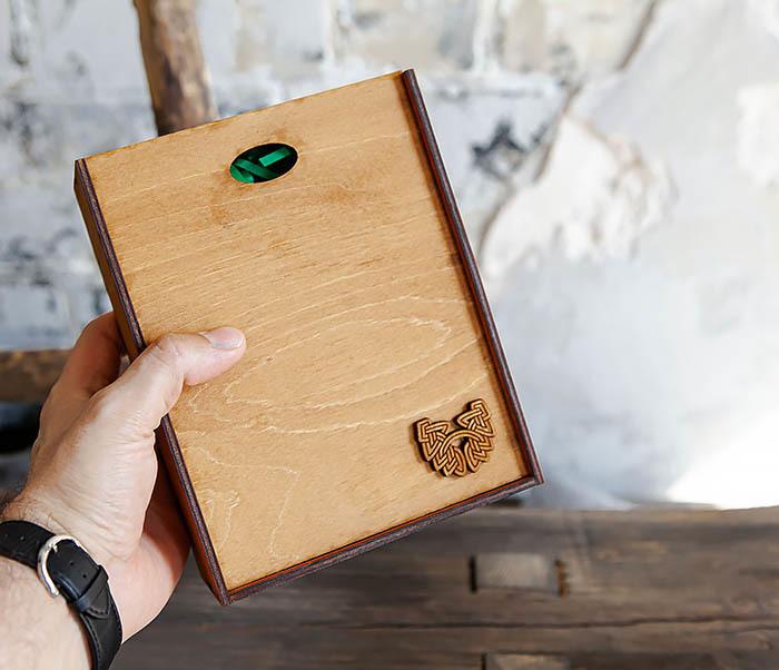 BOX231-2 Подарочная коробка формата А6 из дерева (19*15*6 см) фото 09