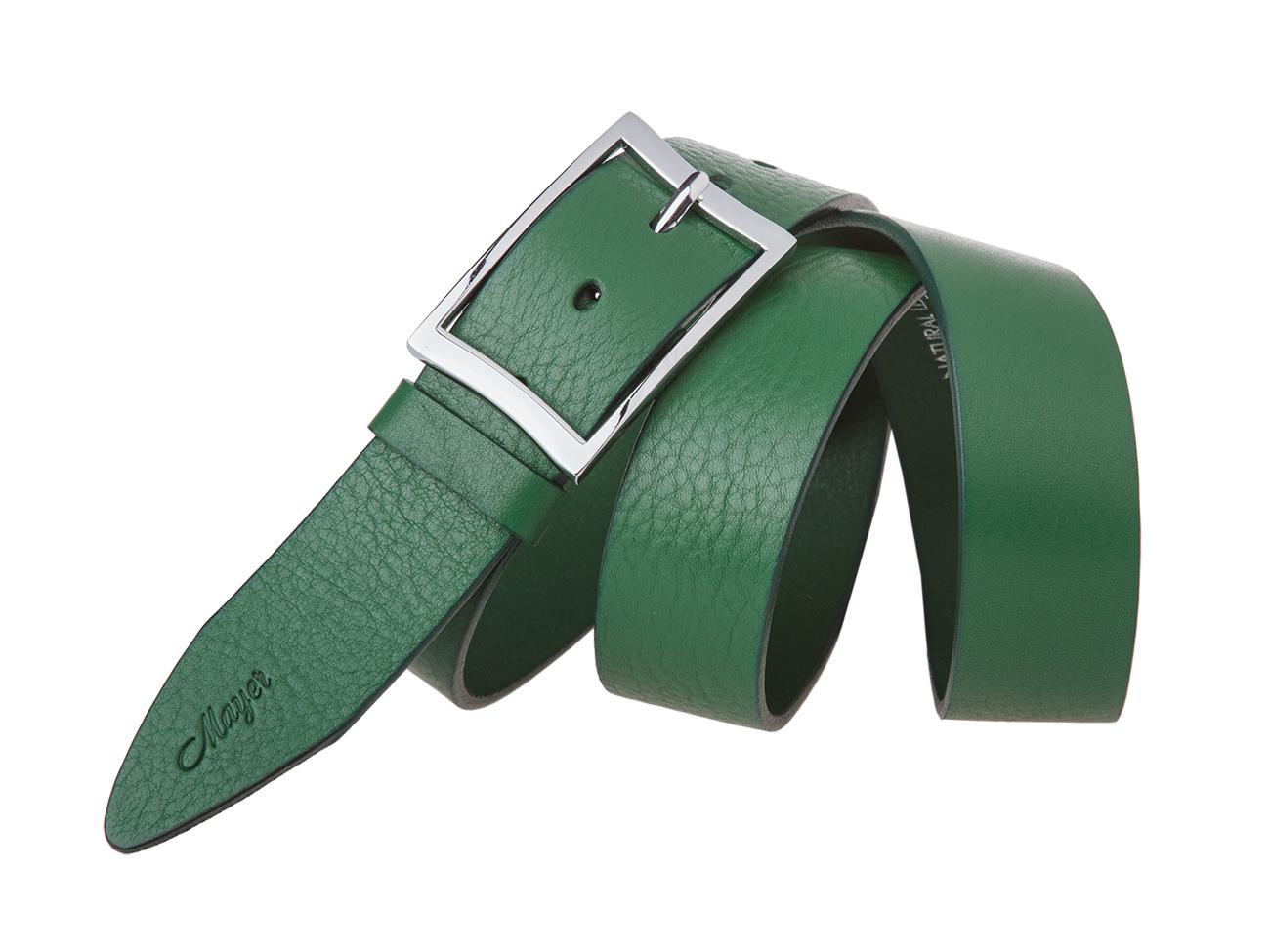 Женский зеленый ремень из кожи Mayer B 40-409