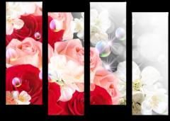 """Модульная картина """"Кристальные розы"""""""