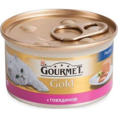 Gourmet Gold консервы для кошек паштет с говядиной 85 г