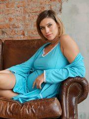 Евромама. Комплект для беременных и кормящих с рукавами 3/4, бирюзовый вид 5