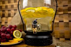 Стеклянный диспенсер для напитков «Кантри Фонарь», 5 литров, фото 2