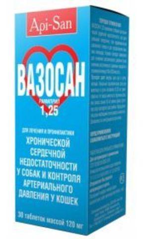 Апи-Сан Вазосан 1.25 мг №30