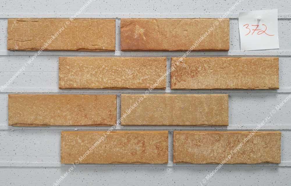 Stroeher - 372 amberbeige, Steinlinge, состаренная поверхность, ручная формовка, 240x71x14 - Клинкерная плитка для фасада и внутренней отделки