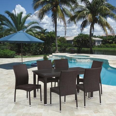 Комплект плетеной мебели T256A/Y380A-W53 Brown 6Pcs