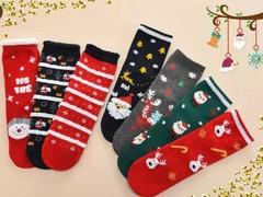 Носки детские новогодние  (5 пар) арт.D007-5 (разм 1-4 )