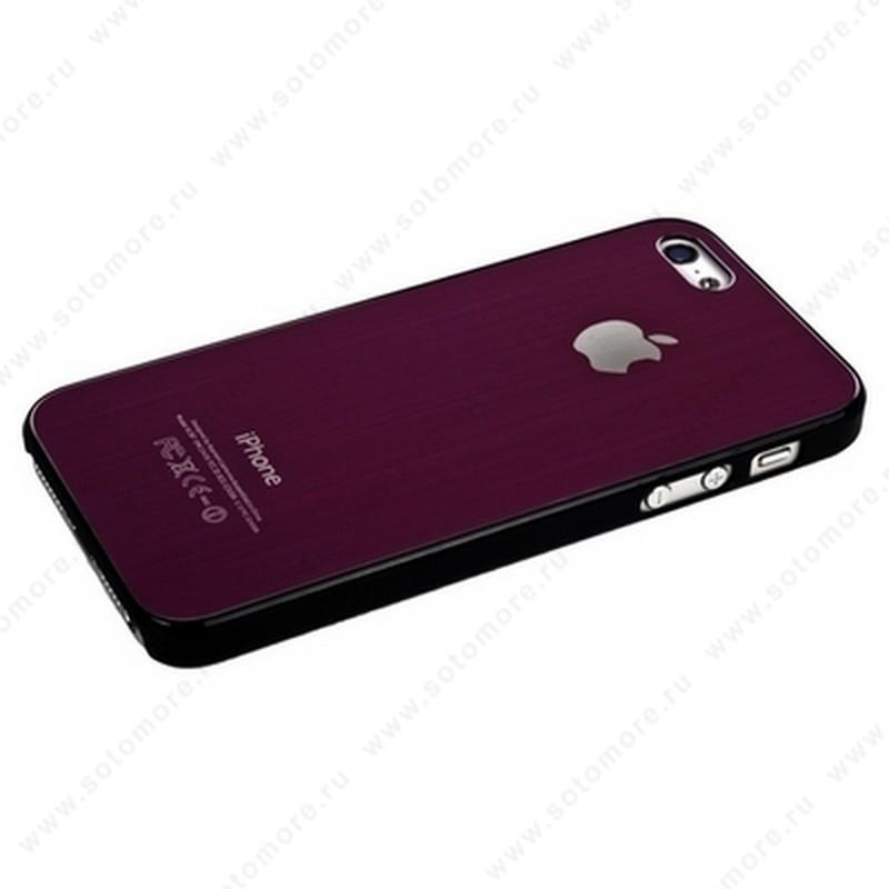 Накладка SGP металлическая для iPhone SE/ 5s/ 5C/ 5 розовая с черной окантовкой