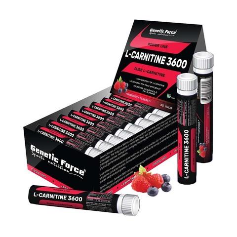 Genetic Force L-CARNITINE / L-карнитин 3600 Малина-Черника, ампулы  (30*25 мл) штучно