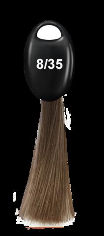 OLLIN N-JOY  8/35 - светло-русый золотисто-махагоновый, перманентная крем-краска для волос 100мл