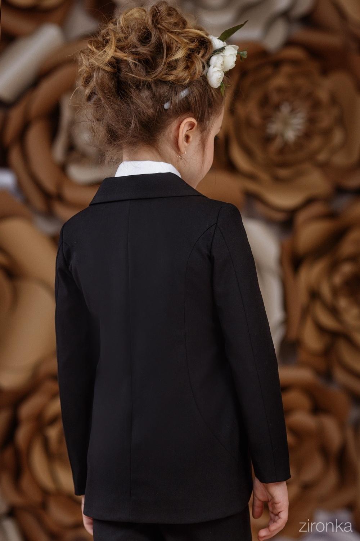 Жакет черный для девочки 9542-1