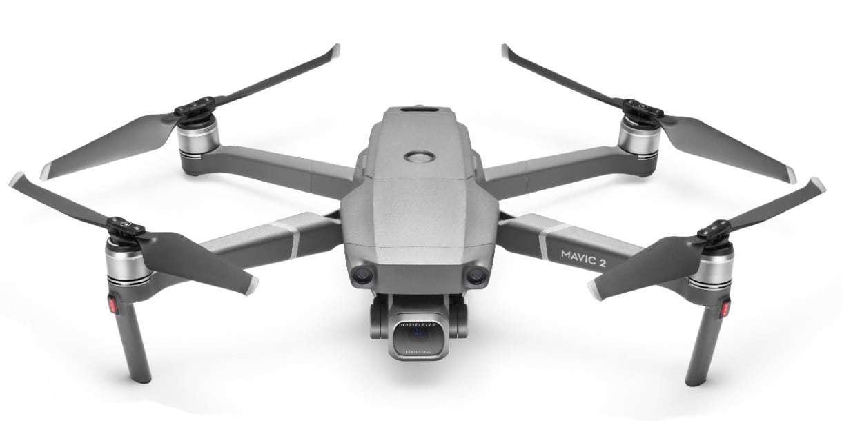 Квадрокоптер DJI Mavic 2 Pro спереди сверху
