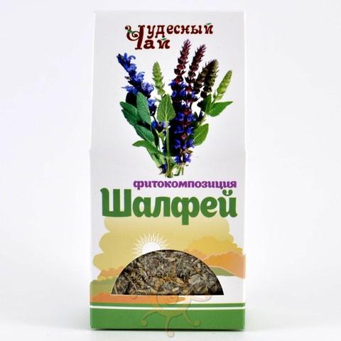 Шалфей трава сушеная Чудесный чай, 50г