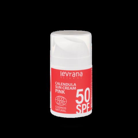 Levrana Солнцезащитный крем для лица и тела Календула, SPF50 PINK, 50 мл.