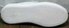 Белые кожаные кеды кроссовки с белой подошвой Maria Sonet 274k All White.