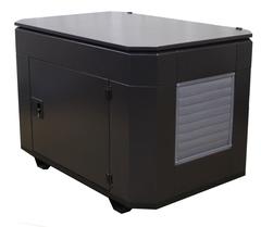 Домик для генератора SB1200DM ral8019 вид сбоку