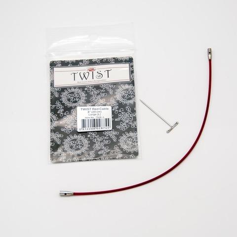 Леска Twist red cable, ChiaoGoo