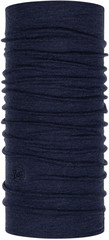 Шерстяной шарф-труба Buff Wool midweight Night Blue Melange