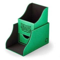 Dragon Shield - Зелёно-чёрная коробочка Nest+ с отделением для кубиков (100 карт)