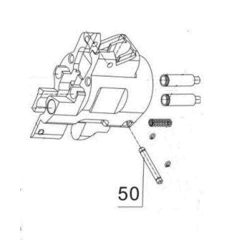 Ось коробки для монтажного пистолета ПЦ-84, GFT-5 (50)
