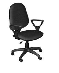 Кресло ПРЕСТИЖ-POLO газлифт ткань черная