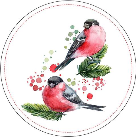 Печать на вафельной бумаге, Птицы 1