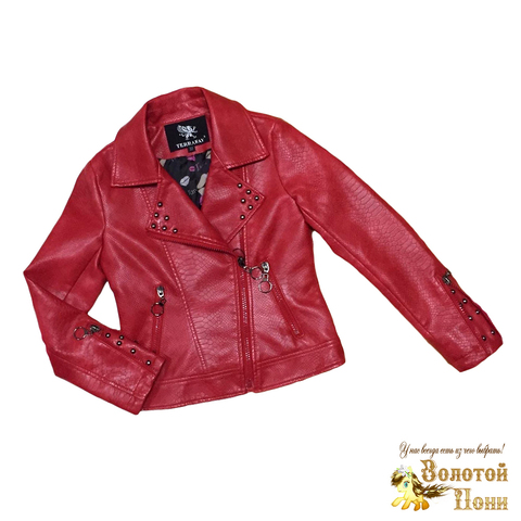 Куртка экокожа девочке (4-8) 200313-Р8848