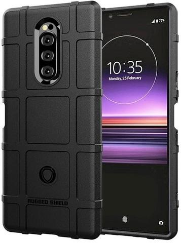 Чехол Sony Xperia 1 цвет Black (черный), серия Armor, Caseport