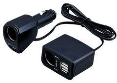 Разветвитель гнезда прикуривателя + USB F-247