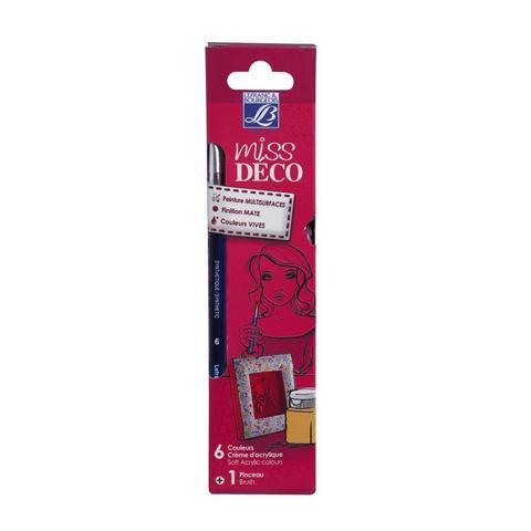 Набор акриловых красок Lefranc&Bourgeois MISS DECO. Матовый (6х20 мл)